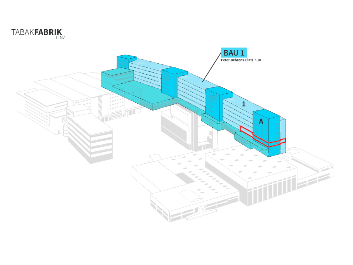 Tabakfabrik Lageplan Bau 1