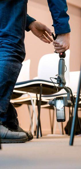 Smartphone Video Workshop, Filmen mit dem Gimbal und dem Handy im Hochformat. Selber Filmen mit dem Smartphone