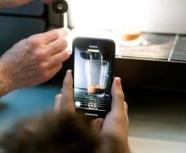 Videoaufnahme eines Kaffees